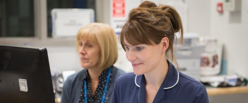 Nurse at Reception Desk