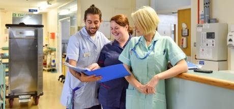Staff members in the Urology ward
