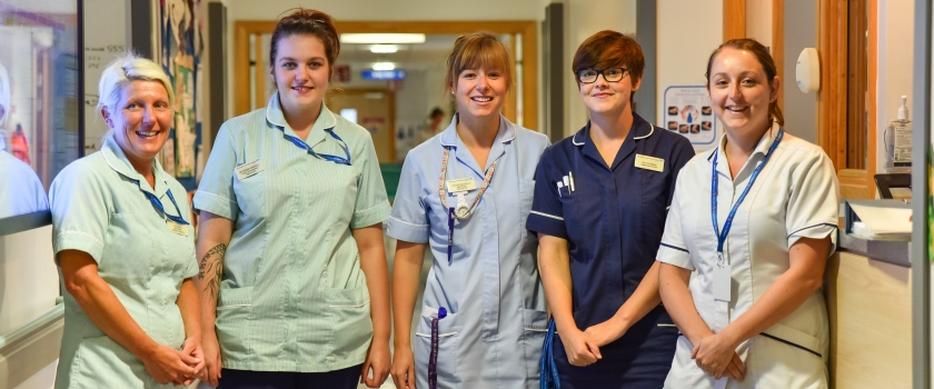 Nursing and other staff on ward 22S