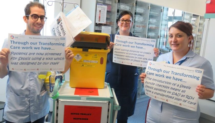 Sepsis Trolley and Staff