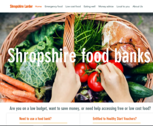 Shropshire Larder Website Launched To Help People In Food
