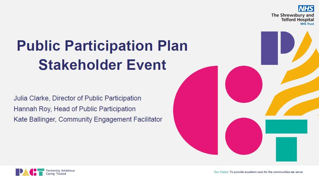 Public Participation Plan Stakeholder Event August 2021